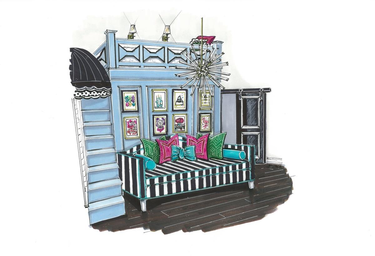 Kate Spade Bedroom – Jane Gianarelli